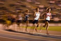 Chad Hall (Eric Wolfe) Tags: california usa blur sports jumping unitedstates running highschool races distance cerritos trackandfield twomile original:filename=2007052540876jpg