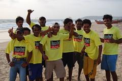 timeout boys in goa beach (pallav moitra) Tags: beach goa anjuna panjim mandovi zuari baghator