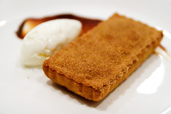 fried apple pie with sour cream ice cream