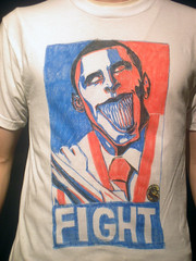 Baraka Obama (Ashley A) Tags: shirt hope graphic drawing obey tshirt scorpion change mk2 parody tee teeshirt obama mortalkombat baraka barack shephardfairey shangtsung
