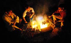 Barbecue (1) (VeNiVi) Tags: friends light night fire friendship lumire barbecue amis nuit feu amiti aficionados saucisses colourartaward aficinonados