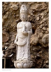 Buddhist statue at Maisan (Evert Lancel) Tags: woman mountain statue stone buddha buddhism korea korean tapsa maisan budhhist olympusc8080widezoom
