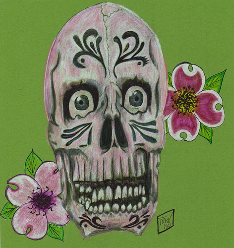 Skull Tattoo Design 10 x 10