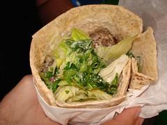 Laila's falafel sandwich