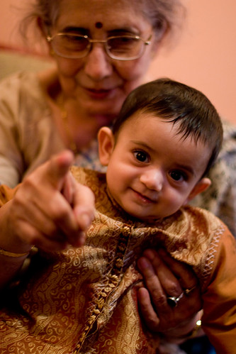 Virj with grandma