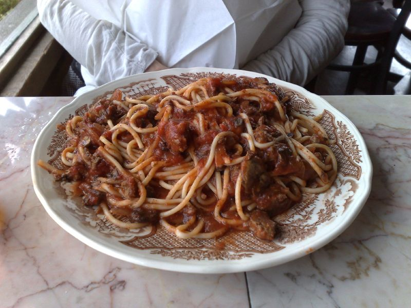 All-you-can-eat meat sauce spaghetti