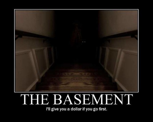 The Basement Posters - Ill give you a dollar if you go first, demotivational posters, funny motivational posters