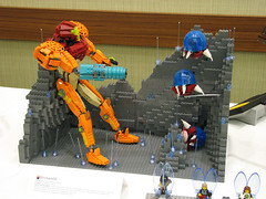 Samus at Brickworld (Pepa Quin) Tags: lego nintendo 2008 aran metroid samus brickworld