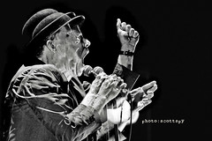 Tom Waits - Double Exposure (scottspy) Tags: blackandwhite bw doubleexposure livemusic gigs concerts legend concertphotography waits tomwaits raindogs bonemachine swordfishtrombones scottspy