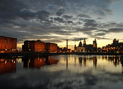 Evening on the Salthouse dock (Mr Grimesdale) Tags: liverpool merseyside e510 olmypus mrgrimsdale stevewallace europeancapitalofculture2008 photofaceoffwinner pfogold mrgrimesdale