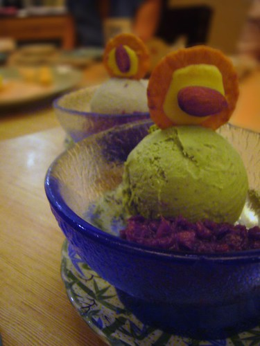 greentea&sesame ice cream