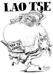 LAO TSE (Morales de los Ros) Tags: writers caricaturas philosophers caricatures escritores filsofos