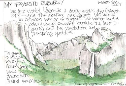 Yosemite Art: A Journal Entry by Mindy