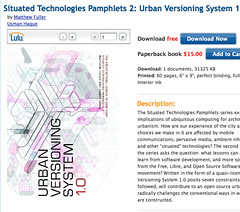 Urban Versioning System 1.0 by Matthew Fuller, Usman Haque (Book) in Arts & Photography_1215727357699