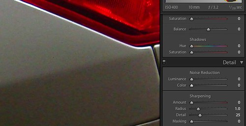 Color noise before chroma noise reduction in Adobe Lightroom