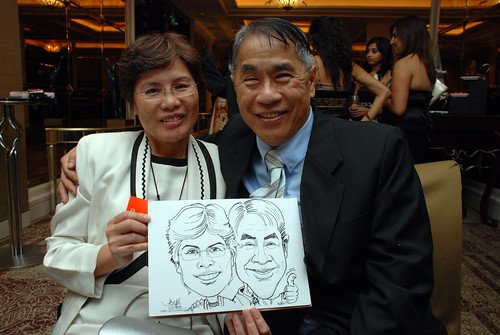 caricature live sketching for wedding dinner 120708  - 50