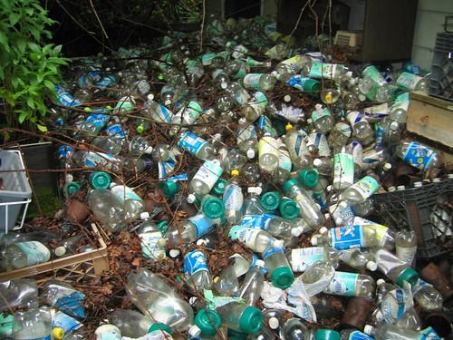Pile of seltzer bottles