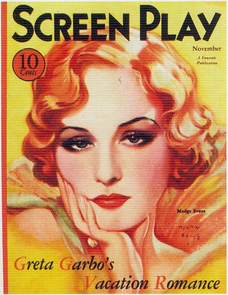 Screen Play, November 1930s, Madge Evans