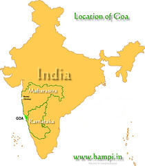 Location of Goa in India's map