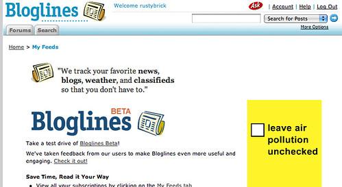 Blogline Ads