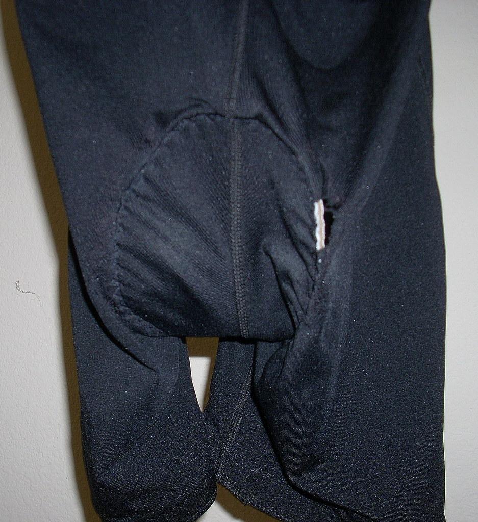 Holey bike shorts