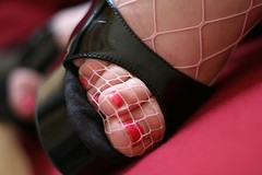 In the net (steveclimber70) Tags: fetish foot shoe toes