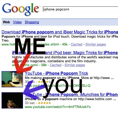 iPhone Popcorn Google Results