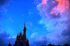 Disney - Cinderella Castle and Pretty Sky - HDR (Edit 2) (Explored)