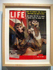 monkeys in space! (*lapin) Tags: life california museum magazine oakland space astronauts cover 1950s monkeys