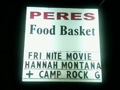 Hannah Montana movie at Peres Food Basket