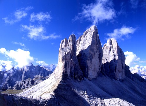 Drei Zinnen / Tre Cime / Three Peaks of Lavaredo, a photograph by geli2008
