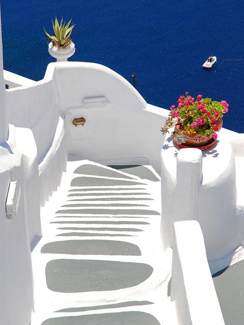 Stairway in Oia, Santorini