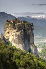 Grand Metora Monastery at Kalambaka (Waqas Ahmed) Tags: 2008 grandmeteora april centralgreece cliff europe kalambaka monastery mountains rock snow travel meteora greece
