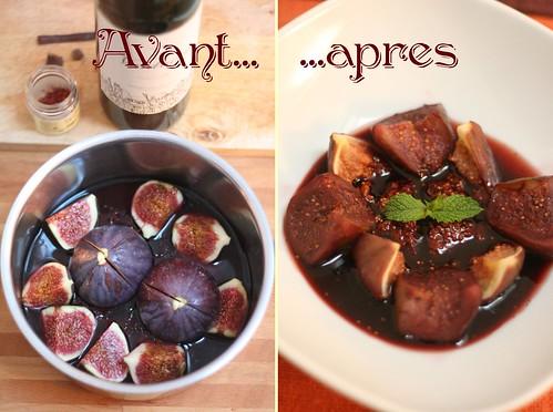 Figues au vin rouge & aux épices