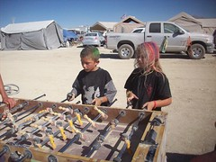 Burning Man 2008 205 (xamichee) Tags: burningman blackrockcity foosball burningman2008 blackrockcitycommunitycenter