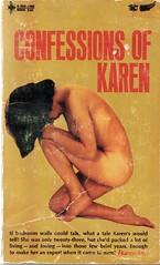 Confessions of Karen, 1967 (sparkleneely) Tags: vintage karen paperback pulp racy
