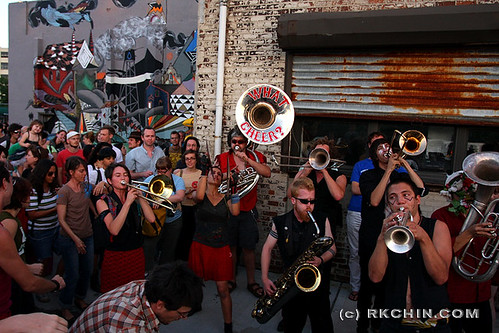 What Cheer? Brigade welcoming the Swoon armada at Deitch Studios