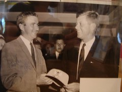 Museum of the San Ramon Valley photo of Danville Town Councilman Mike Doyle and John F. Kennedy