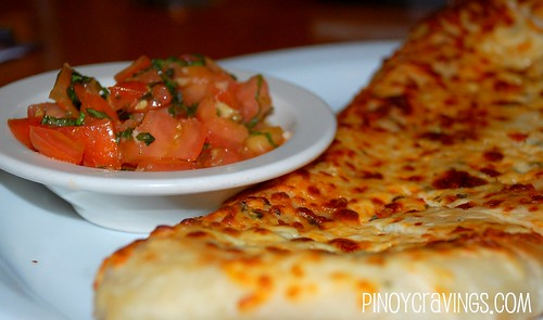 Garlic Cheese Focaccia with Checca - California Pizza Kitchen Make your Own Pizza Event