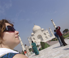 Betsy at the Taj Mahal
