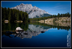Cascade Mountain (Sean Phillips) Tags: park mountain lake canada mountains reflection calgary water glass landscape rockies mirror nationalpark johnson rocky calm mount reflect national alberta mirrored banff rockymountains cascade federal critique banffnationalpark minnewanka tds cascademountain johnsonlake minnewankaloop photobyseanphillips epiceditsselection