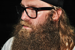 Andy Williams of Every Time I Die. (JessicaHume.) Tags: man up metal beard glasses close jessica live band curly national gnarly stache mustache hume etid mane jh andywilliams everytimeidie andrewwilliams jessicahume