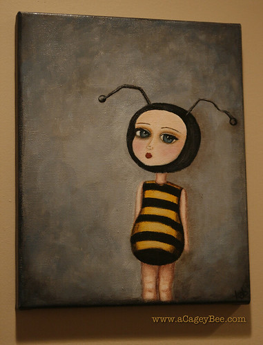 New painting - Bee Girl