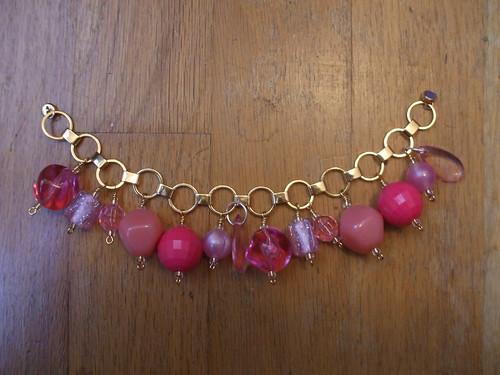Make It Pink charm bracelet