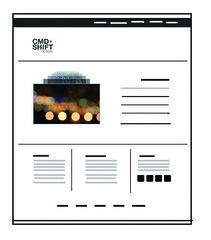 CMD+Shift ReDesign: Wireframe