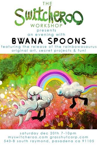 Rainbowasaurus - Bwana Spoons - flyer