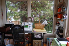 My desk/Sewing Station (Tiny House) Tags: studio