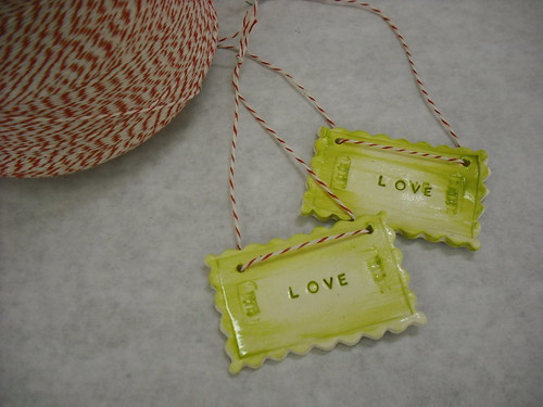 love letter swap ornaments by artstreamstudios.