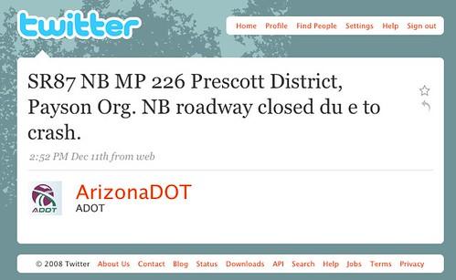 Useful Highway Tweets