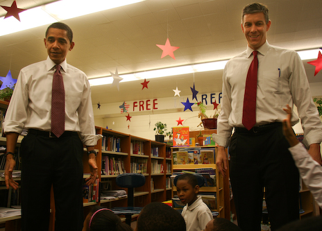 President Obama and Education Secretary Arne Duncan
